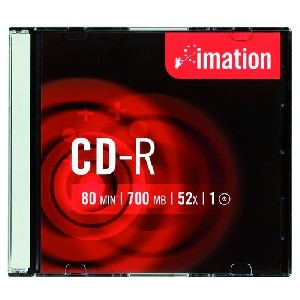CD-R Imation 52x, 700 MB slim