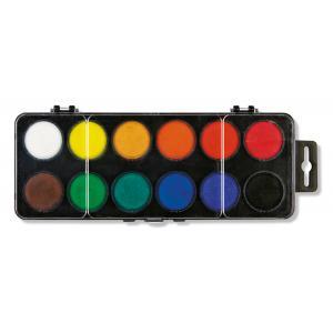 Školské vodové farby, 30mm, 12 farieb