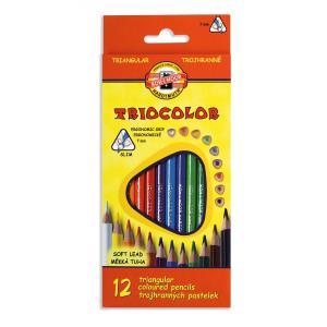 Trojhranné pastelové ceruzky TRICOLOR 12ks