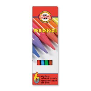 Pastelová ceruzka v laku PROGRESSO, 6 ks