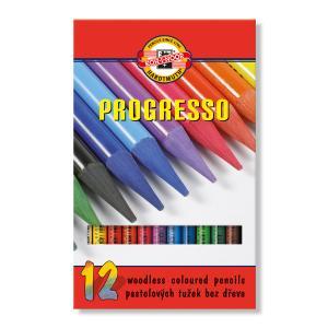 Pastelová ceruzka v laku PROGRESSO, 12 ks