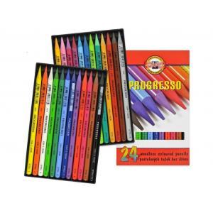 Pastelová ceruzka v laku PROGRESSO, 24 ks