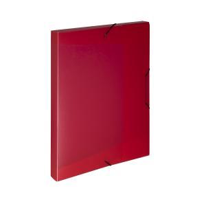 Plastový box s gumičkou Karton PP Opaline červený