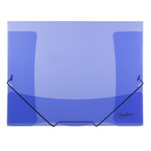 Plastový obal s gumičkou Karton PP Opaline modrý