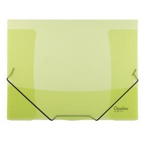 Plastový obal s gumičkou Karton PP Opaline zelený