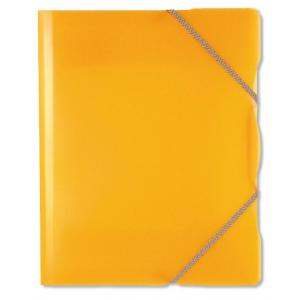 Plastový obal s gumičkou Karton PP Opaline oranžový
