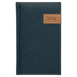 Diár Denim týždenný vreckový modrý 2022
