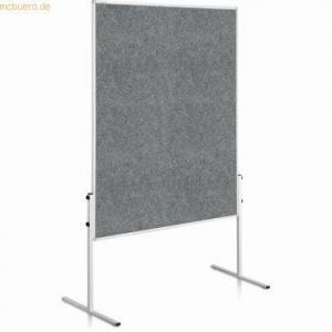 Moderačná tabuľa plstená 150x120 cm ECONOMY sivá neskl.