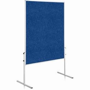 Moderačná tabuľa plstená 150x120 cm ECONOMY modrá neskl.
