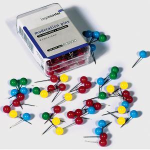 Napichovacie špendlíky guľaté Legamaster 6mm mix farieb 200ks