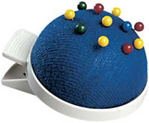 Moderačný vankúšik modrý