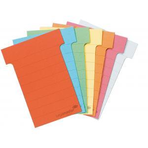 T-karty pre zasúvacie tabule žlté 100 ks 83 mm