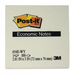 Samolepiaci bloček Post it Economy 76x76  žltý