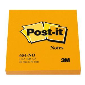 Bloček Post-it 76x76 neón oranžový