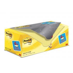Bločky Post-it 76x76 žlté 20x100l