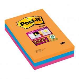 Bloček Post-it Super Sticky 102x152 linajkový Bankok