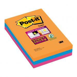Samolepiaci bloček Post-it Super Sticky 102x152 linajkový Ba