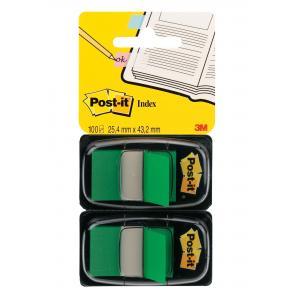 Záložky Post-it Index široké 25x43 zelená 2ks