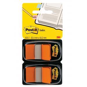 Záložky Post-it Index široké 25x43 oranžová 2ks