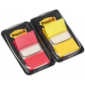 Záložky Post-it Index široké 25x43 žltá a červená