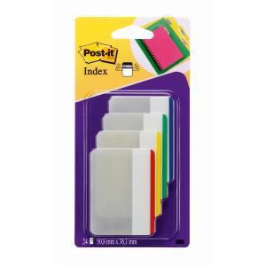 Post-it index silný široký  klasické farby 50,8 x 38 mm