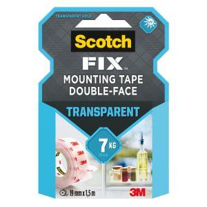 Montážna páska Scotch vodelodolná, UV odolná transparentná 19x1,5m