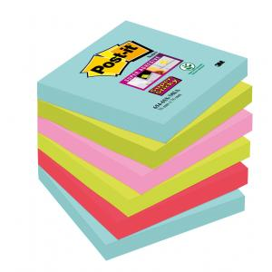 Bločky Post-it Super Sticky _Miami_ 76x76mm