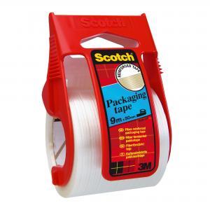 Baliaca páska Scotch so silnou priľnavosťou 50mmx9m s dispenzorom priehľadná