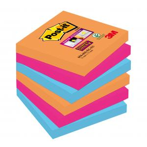 Bločky Post-it Super Sticky _Bangkok_ 76x76mm