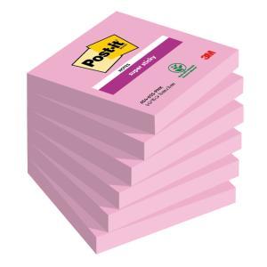 Bločky Post-it® Super Sticky - Ultra Ružová 76x76mm