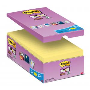 Bločky Post-it® Super Sticky žlté 76x127mm zvýhodnene baleni