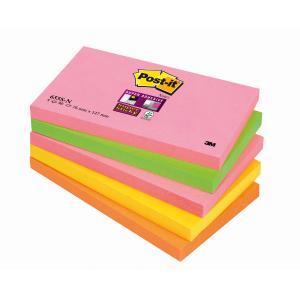 Bločky Post-it Super Sticky `Kapské Mesto` 76x127 neónové farby