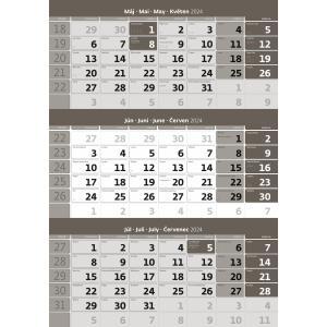 Trojmesačný kalendár sivý 2021