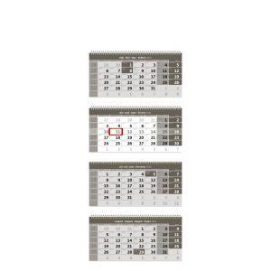 Štvormesačný kalendár so špirálou šedý 2022