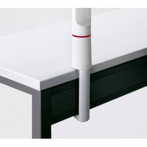 Úchyt 1 na hranu stola 6,7-12,1cm sivý