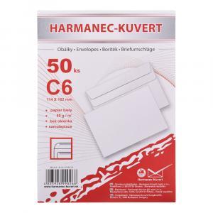 Poštové obálky C6 samolepiace, 50 ks