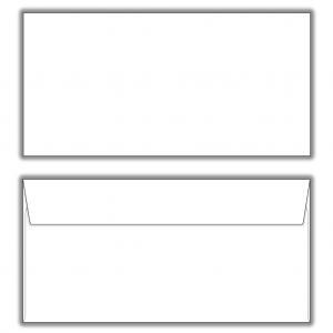 Poštové obálky DL s páskou, 1000 ks
