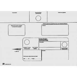Poštové obálky C5 doručenka, 1000 ks