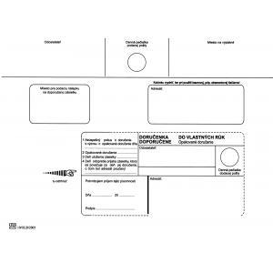Poštové obálky C5 doručenka do VR OD, Nedoposielať, 100 ks