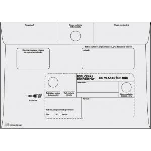 Poštové obálky C5 doručenka do VR bez OD, biele 1000 ks