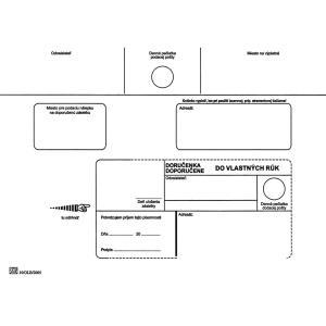 Poštové obálky C5 doručenka do VR OD, Doposielať, 1000 ks