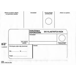 Poštové obálky B6 doručenka do VR bez OD biele, 1000 ks