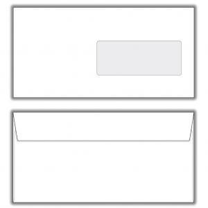 Poštové obálky DL s páskou, okienko, potlač 1000ks 80g