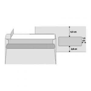 Poštové obálky DL Cygnus s páskou, okienko vpravo, potlač 500 ks