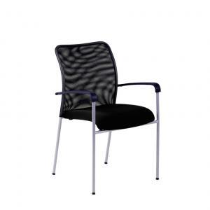 Rokovacia stolička TRITON Net čierna