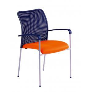 Rokovacia stolička TRITON Net oranžová