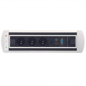 Zásuvkový elektr. otočný panel Vault 014, strieborný