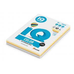 Farebný papier IQ color 5x50 mix trendové farby, A4 80g