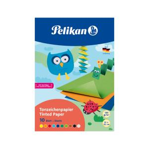 Farebný papier Pelikan 10ks 33x23cm mix farieb