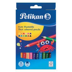 Pastelky Pelikan trojhranné 12 ks